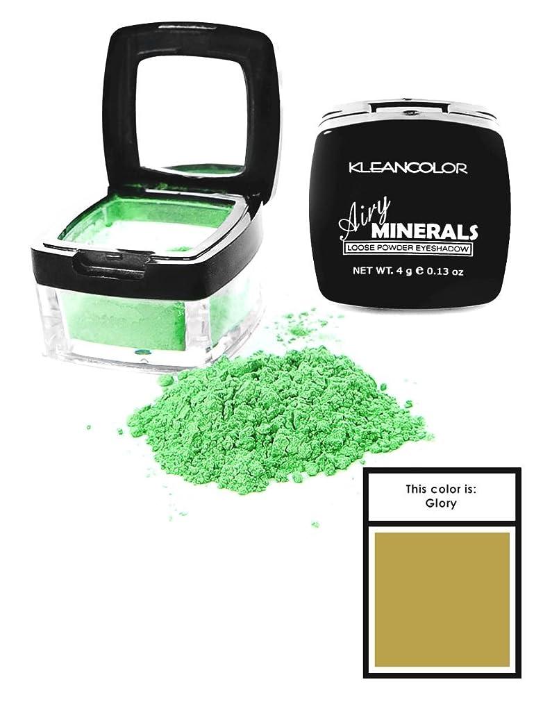 スラッシュ協力的見捨てられたKLEANCOLOR Airy Minerals Loose Powder Eyeshadow - Glory (並行輸入品)