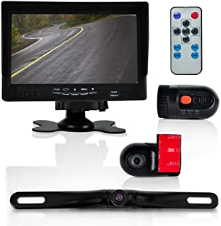 "Pyle PLCMDVR72 Dash Cam Vehicle Driving Video Camera & Monitor System Kit, 7"" Display"