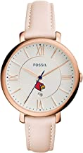 Fossil NCAA Womens Ladies Jacqueline Three-Hand Watch, Silver, One Size