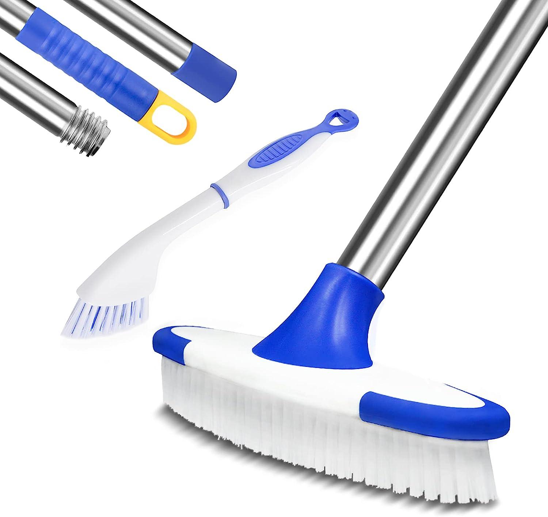 Buy ITTAR Multi Use Floor Scrub Brush with 9 Long Handle ...