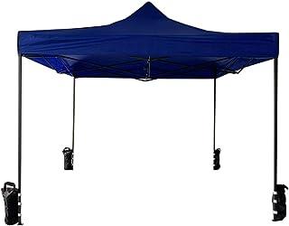 Rebecca Mobili Cenador Pabellón Plegable con 4 Pesos Azul Poliéster Metal Funda de Transporte Festival Terraza Fiesta - 3,1x3x3 m (A x AN x FON) - Art. RE6327