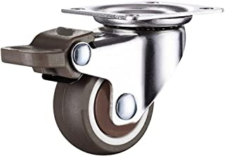 CHENZHANMAOYI 4 stuks 2 Inch TPE Ultra Quiet Rubber Wiellager 160kg Brake kabinet meubelwielen Brake Wheel Met schroefjes ...