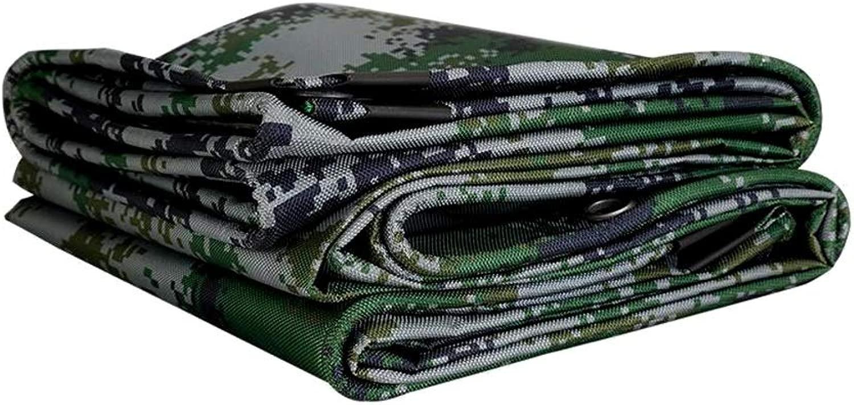 ZX タープ 迷彩 オックスフォード布 厚い 防水 ターポリン アウトドア 保護カバー シェードタープ テント アウトドア (Color : Multi-colo赤, Size : 6x8m)