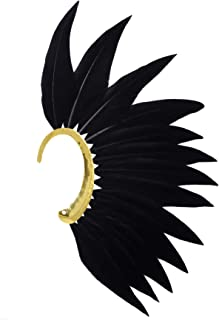 Punk Style Feather Left Side Single Ear Cuffs Non Piercing Earring Wrap