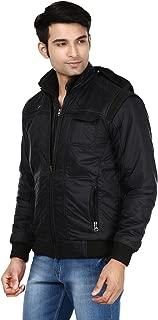 Ico Blue Stor Men's Polyester Full Sleeve Solid Jacket (Divider_Black_38)