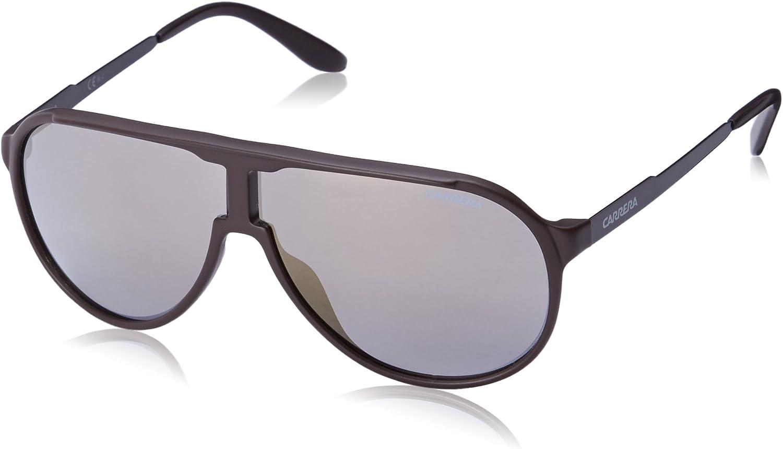 Carrera New Champion Aviator Sunglasses, Brown Black & Bronze Mirror, 62 mm