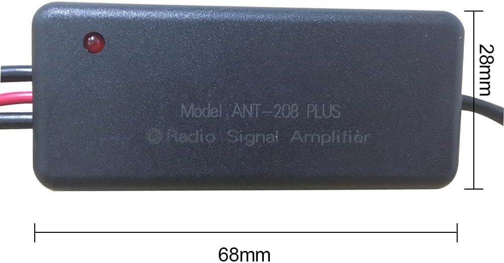 Señal Amplificado Amplificador Radio Coche 3 En 1 Universal DC12V-24V Car Auto FM Radio/Am Antena Dab Receptor Dab Amplificador De Señal para Ocean ...