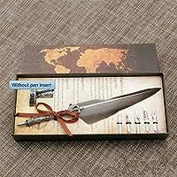 Cafshinu 5ペン先の結婚式のギフトクイルペンで万年筆英語書道フェザーディップペンライティングインクセット文房具ギフトボックス (Color : Without pen insert, Size : フリー)