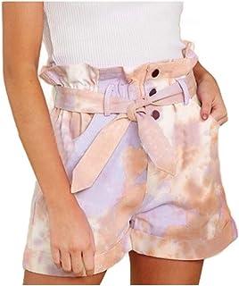 SportsX Women Panties Utility Pocket Casual Leisure Tie Dye High Waist Panties