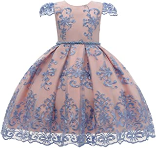 Baby Girls Lace Dresses GoodLock Toddler Kids Flowers Tulle Party Princess Dress Formal Clothes