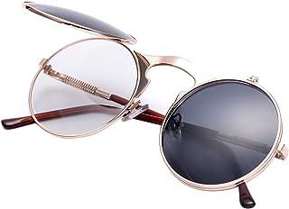 COASION Vintage Round Flip Up Sunglasses for Men Women...