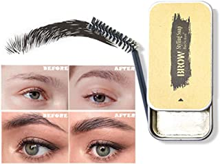 YOJINKE Eyebrow Soap, 3D Feathery Brows Makeup Balm Styling Brows Soap Kit Lasting Eyebrow Setting Gel Waterproof Eyebrow Tint Pomade Cosmetics for Natural Brows,Creative Xmas Birthday Gift for Her