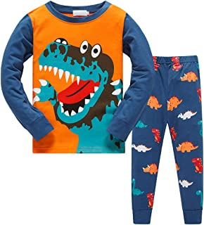TEDD Pijamas NiñoDinosaurio Animales Cars Algodon Ropa a Juego Conjunto Edad 1-12 Años