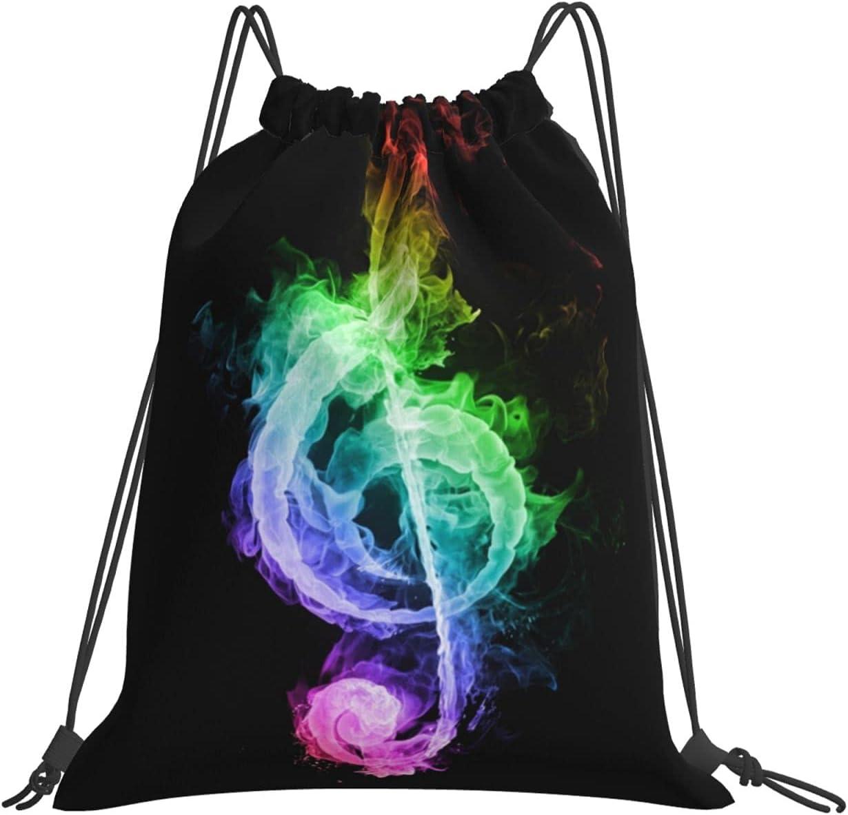 Dealing full price reduction Rainbow Music Symbol Drawstring Bag Mesa Mall For Hi Women Men Lightweight