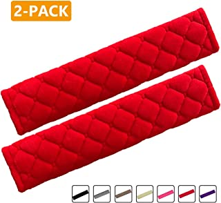 MIRKOO Car Seat Belt Cover Pad, 2-Pack Soft Car Safety Seat Belt Strap Shoulder Pad for Adults and Children, Suitable for ...