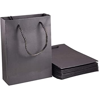 black paper treat bags