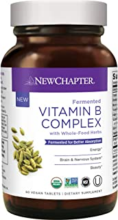 New Chapter Vitamin B Complex, Fermented Vitamin B Complex, One Daily with Whole-Food Herbs + Adaptogenic maca for Natural...