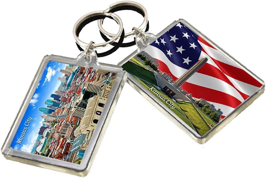 KR033 Kansas City Keychain United States Travel Photo Keyring