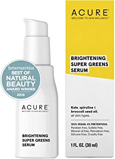 ACURE Brightening Super Greens Serum | 100% Vegan | For A Brighter Appearance | Kale, Spirulina & Broccoli Seed Oil - Supe...
