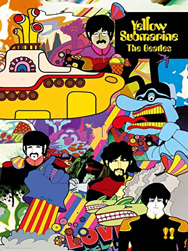APPLEpie The Beatles Yellow Submarine Poster Art Prints 18x 24 Inches