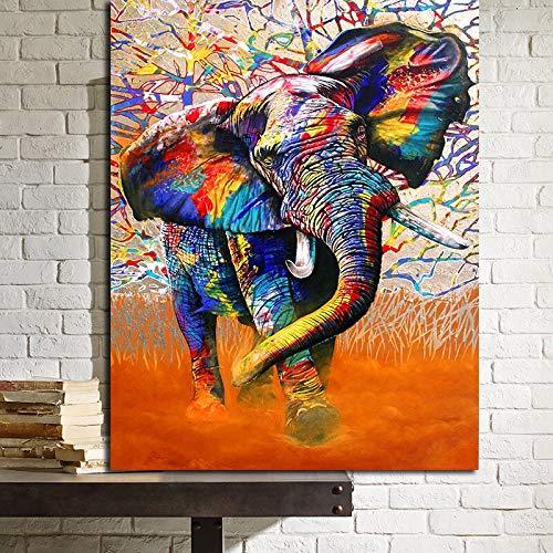 N / A Rahmenlose Malerei Elefantenmalerei, Arbeiten zur Dekoration Wandkunst Wohnzimmer posterZGQ9055 20x30cm