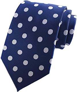 Mens Classic Polka Dot Ties Jacquard Woven for Business Wedding Party Self Neckties