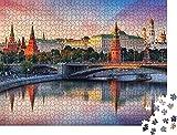 Kremlin y el Río de Moscú,Rusia Rompecabezas para Adultos 1000 Pieza,Madera Rompecabezas de la Familia de que el Juego de la Colección de Juego Educativo de Arte para la Pared del Dormitorio de la De