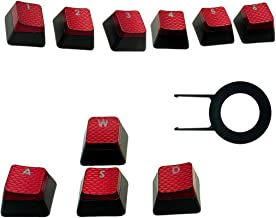 HUYUN 1set FPS Backlit Key Caps for Corsair K70RGB K70 K95 K90 K65 K63 Gaming Keyboards Cherry Key switches (Red)