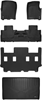 MAXLINER Floor Mats and Cargo Liner Behind 3rd Row Set Black for 2011-2017 Expedition EL / Navigator L with 2nd Row Bucket Seats without Console