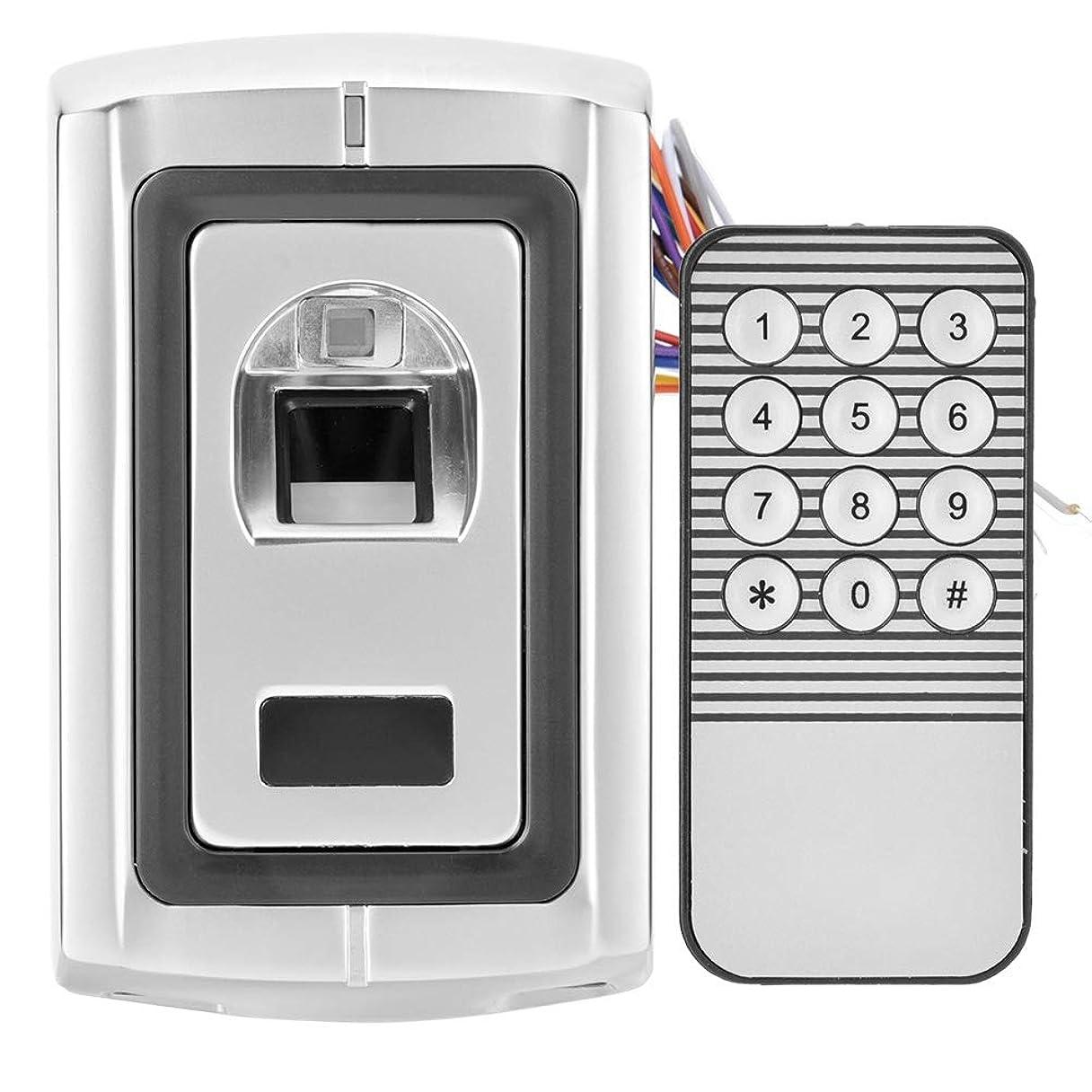 着陸滑り台お嬢電子指紋ドアロック アクセス制御指紋認証 1リモコン付き安全ドアアクセス制御システム+ 1指紋アクセス制御