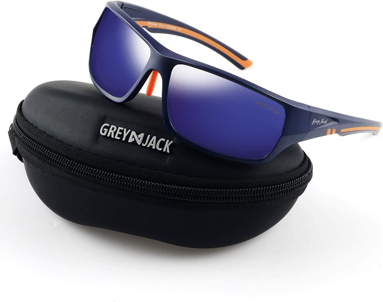 GREY JACK Polarized Sports Sunglasses UV Predection Lens Superlight Durable Tr Frame for Men Women