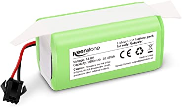 Keenstone 14.8v 2600mAh Li-ion Rechargeable Replacement Battery for Eufy Compatible with RoboVac 11, RoboVac 11S, RoboVac 30, RoboVac 15C, RoboVac 12, RoboVac 35C Ecovacs Deebot N79S N79