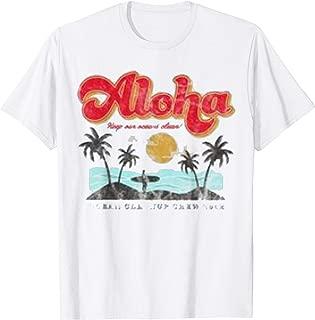 Cute Aloha Hawaii Vintage T-Shirt Hawaiian Beach