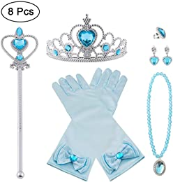 Vicloon Princesse Dress Up Accessoires,8pcs Elsa C