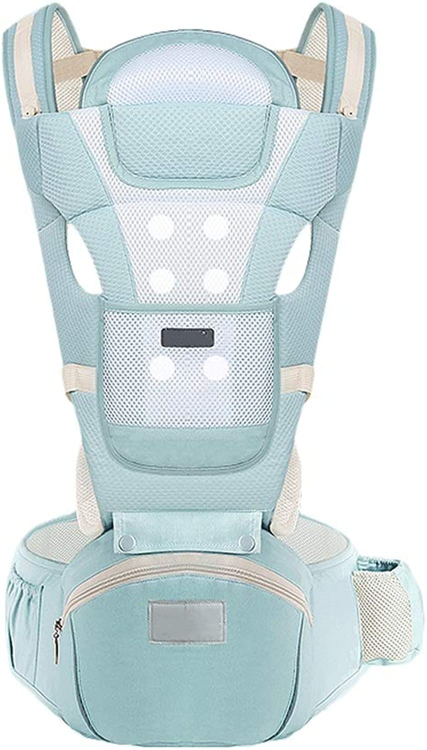 Multifunctional Baby Carrier Hip seat Baby Backpack 0-36 Months Cotton Storage Breathable (color   B)