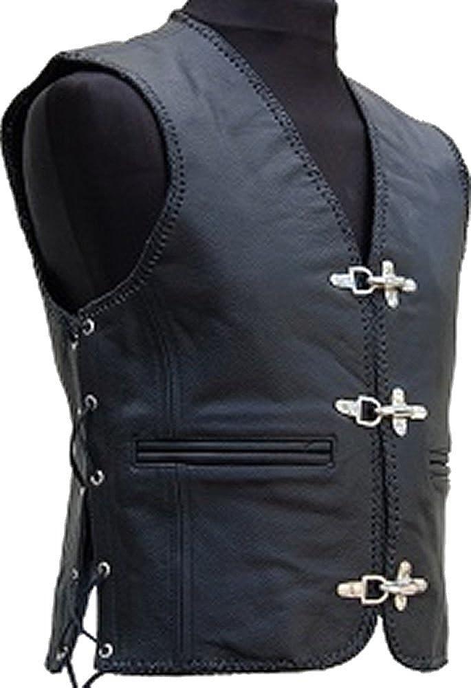 Sleekhides Men's Fashion Stylish Biker Quality Leather Vest