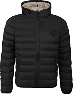 Crosshatch Mens Designer Fade Padded Gilet Gradient Hooded Quilted Body Warmer