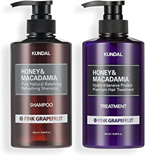 KUNDAL Honey & Macadamia Pure Natural Shampoo & Conditioner Set - Pink Grapefruit