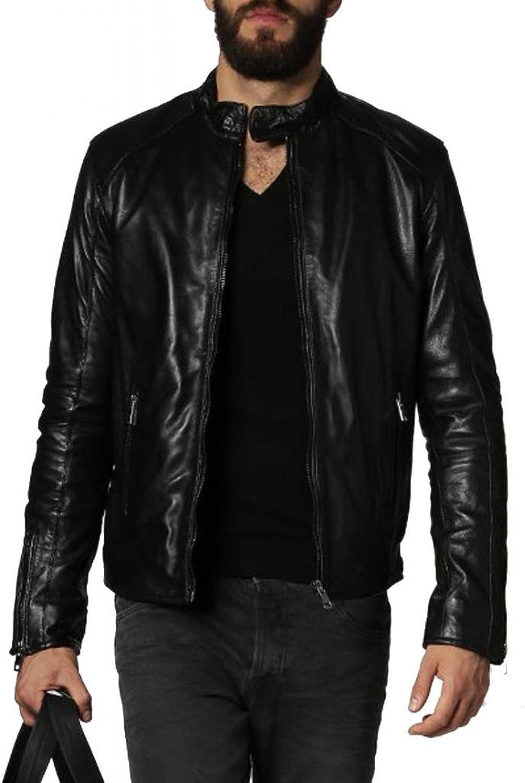 Cow Leather Jacket for Men genuine cow-hide jacket C364