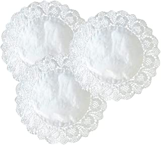 12 Inch Paper Doilies Round Lace Silver Foil Paper Placemats Doily Paper Pad for Cakes Crafts Party Weddings Tableware Décor (Silver 100pcs)
