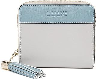 [FIGESTIN]二つ折り財布 レディース ミニ財布 小さい コンパクト 短財布 本革 小銭入れ 人気 かわいい フリンジ 軽量 RFID