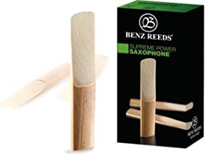 Pack of 5 Benz Reeds BSP5SS40 Soprano SaxophonePower Reeds 4.0 Strength