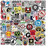 100 Hard Hat Stickers for Tool Box, Thermos, Helmet Decals, 100% Waterproof Funny Stickers for Adults, Hard hat accesories, Mechanics, Electricians, Military, Construction, Welders