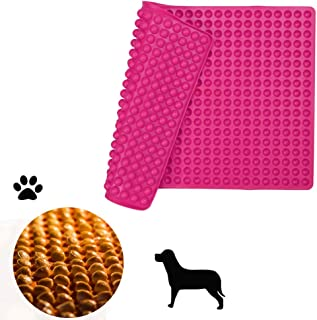 Silicone Baking Mat Cooking Sheets,Baking Molds,For Pets Non-stick, Fat Reducing Mats for Healthy Cooking 11.5× 16 in (Rose Red-0.47in)