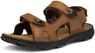 Hush Puppies Avery Mens Brown Leather Sandal