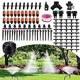FAMOOKLAN Kit de riego por Goteo, Sistema de riego del jardín de 25 m / 82 pies con boquillas Ajustables, Kit de riego de jardín automático Adecuado para Jardines, invernaderos, terrazas de césped
