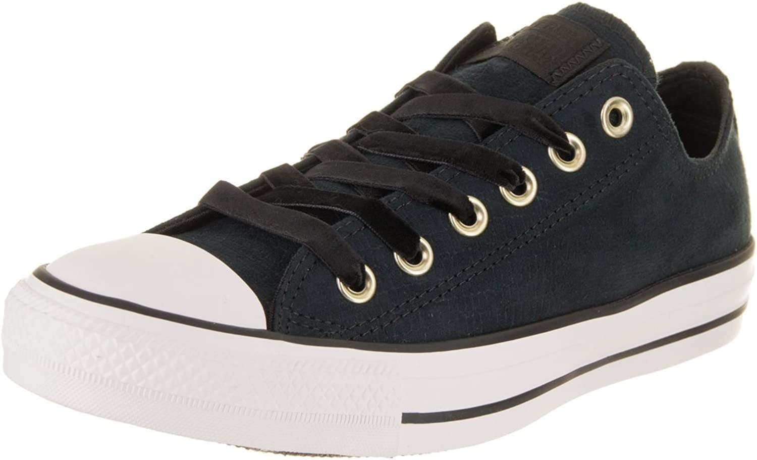 Converse Women's Chuck Taylor All Star Ox Black Black White Casual shoes 7.5 Women US