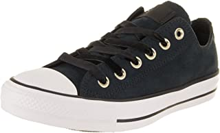 Converse Women's Chuck Taylor All Star Ox Black/Black/White Casual Shoe 9 Women US