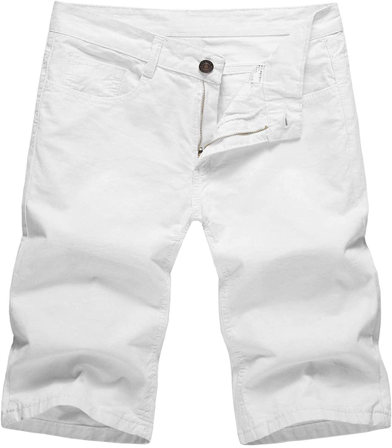 Sport Short Pants for Men with Pockets Mid Waist Summer Solid Color Shorts Casual Straight Trouser Pants