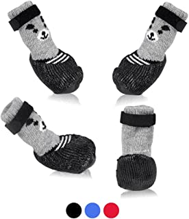 SMARTHING Dog Cat Boots Shoes Socks with Adjustable Waterproof Breathable and Anti-Slip Sole All Weather Protect Paws(Only for Tiny Dog)